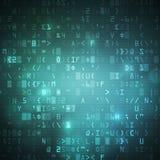 Предпосылка кода цифровым данным по компьютера интернета беспроволочная Стоковое фото RF