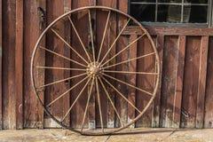 Предпосылка колеса телеги Стоковая Фотография RF