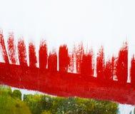 Предпосылка краски Redand зеленая абстрактная Стоковая Фотография RF