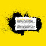 Предпосылка краски Splatter Grunge с местом для Стоковое Изображение RF