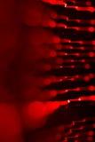 Предпосылка красного СИД освещает с влиянием bokeh Стоковое Фото