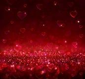 Предпосылка красного цвета валентинки стоковое изображение