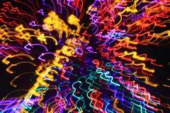 Предпосылка красного цвета, желтых и голубых красочная красивых червей искривления Стоковые Фотографии RF
