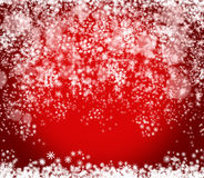 Предпосылка красного цвета Нового Года и рождества Стоковые Изображения RF