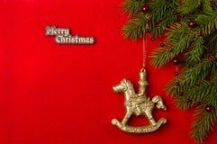Предпосылка красного цвета рождественской открытки Стоковое фото RF