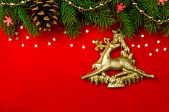 Предпосылка красного цвета рождественской открытки Стоковое Изображение RF