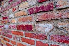 Предпосылка красного цвета текстуры кирпичной стены Стоковое Изображение