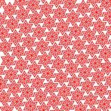 Предпосылка красной звезды флористическая повторяя Стоковые Изображения RF