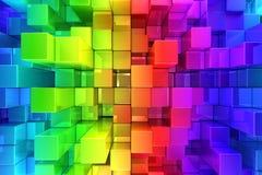Предпосылка красочных блоков абстрактная иллюстрация штока