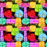 Предпосылка красочных подарочных коробок безшовная Стоковая Фотография RF