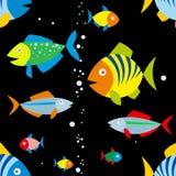 Предпосылка красочных рыб Стоковые Изображения RF