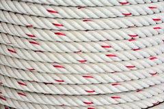 Предпосылка крена веревочки Крупный план веревочки текстуры Стоковое Изображение RF