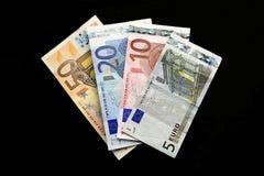 Предпосылка кредиток евро Стоковая Фотография RF