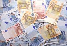 Предпосылка кредиток евро Стоковые Изображения