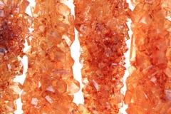 Предпосылка кристаллов желтого сахарного песка Стоковые Фото