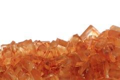 Предпосылка кристаллов желтого сахарного песка Стоковая Фотография