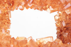 Предпосылка кристаллов желтого сахарного песка Стоковое Изображение RF