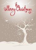 Предпосылка Кристмас с деревом Стоковые Фото