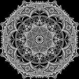 Предпосылка круга винтажного шаблона востоковедная Стоковое Изображение RF