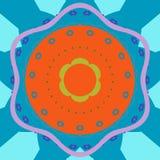 Предпосылка круга мандалы абстрактная Стоковые Изображения