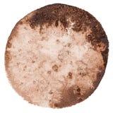 Предпосылка круга покрашенная акварелью Стоковое Изображение
