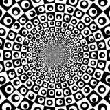 Предпосылка круга сигнала вектора черно-белая оптически Стоковые Изображения