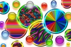 Предпосылка кругов Иллюстрация вектора