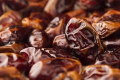 Предпосылка крупного плана плодоовощ даты Куча высушенного сияющего коричневого красного плодоовощ даты Стоковые Изображения RF