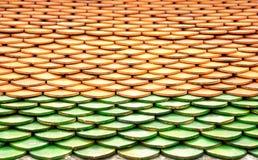 Предпосылка крыши плитки в Таиланде Стоковые Изображения