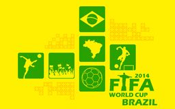 Предпосылка кубка мира ФИФА Стоковое Изображение