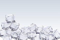 Предпосылка кубов льда Стоковые Изображения