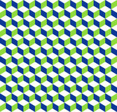 предпосылка кубов 3d tricolor геометрическая - плавно repeatable Стоковые Изображения