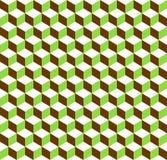 предпосылка кубов 3d tricolor геометрическая - плавно repeatable бесплатная иллюстрация