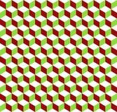 предпосылка кубов 3d tricolor геометрическая - плавно repeatable иллюстрация штока