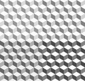 предпосылка кубов 3d tricolor геометрическая - плавно repeatable иллюстрация вектора
