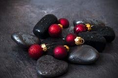 Предпосылка курорта рождества стоковые изображения rf