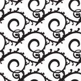 Предпосылка курчавых или Swirly нарисованная рукой Иллюстрация штока