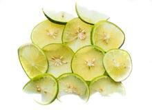 Предпосылка кусков лимона кучи свежих желтых Стоковая Фотография RF