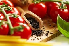 Предпосылка кухни варя концепцию еды Крупный план варить Proc стоковое изображение