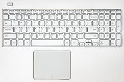 Предпосылка клавиатуры компьтер-книжки Стоковое Изображение RF