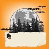 Предпосылка кладбища хеллоуина Стоковое Изображение