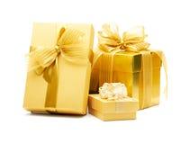 предпосылка кладет белизну в коробку подарка Стоковое Фото