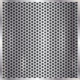 Предпосылка клетки вектора металлическая серебряная иллюстрация штока