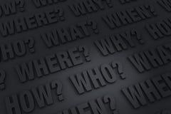 Предпосылка ключевых вопросов Стоковая Фотография RF