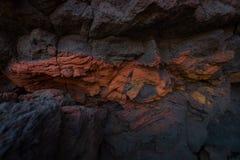 Предпосылка Лансароте Испания лавы Стоковые Изображения