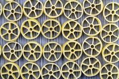 Предпосылка макаронных изделий колеса телеги Стоковая Фотография RF