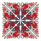 Предпосылка мака квадратная красочная Стоковое Изображение
