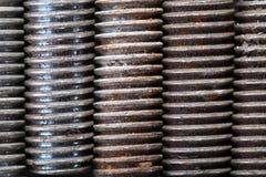 Предпосылка макроса винтовых нарезов промышленная Стоковая Фотография RF