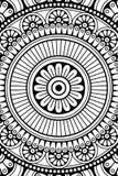 Предпосылка мандалы вектора индийская Стоковая Фотография
