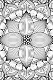 Предпосылка мандалы вектора индийская Стоковое фото RF